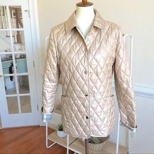 Burberry champagne quilted jacket